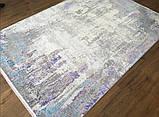 Яркий, необычный сиренево фиолетовый ковер с серым и белым цветом, фото 2