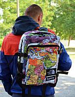 Рюкзак в стиле Supreme x TNF Map унисекс, фото 1