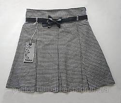 Детская юбка в складку черно-белая (Incity, Турция)