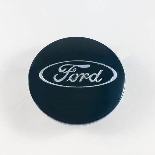 Колпачок в легкосплавные диски Ford синий/хром лого (65 мм)