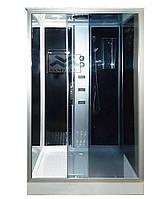 Гидромассажный бокс раздвижной KO&PO 715 (120х80) черный правый каленое стекло с поддоном