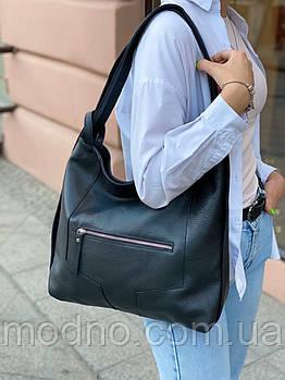 Женская кожаная вместительная итальянская сумка рюкзак Vera Pelle