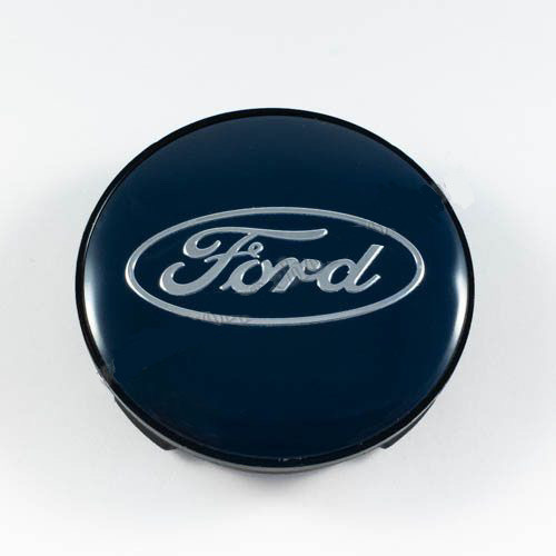 Колпачок в легкосплавные диски Ford черный/синий лого (59 мм)