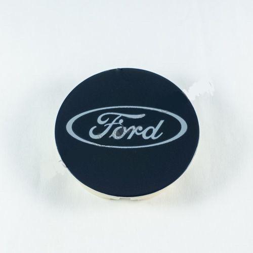 Колпачок в легкосплавные диски Ford синий/хром лого (58 мм)