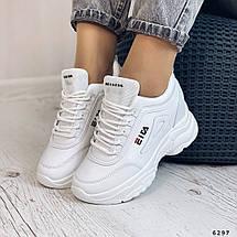 Кроссовки белые на танкетке женские, фото 2