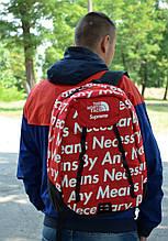 Рюкзак в стиле Supreme x TNF унисекс