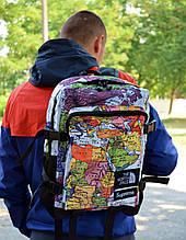 Рюкзак в стиле Supreme x TNF Map унисекс