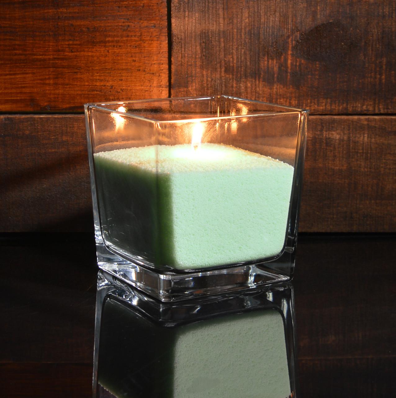 Салатовые насыпные свечи 1 кг + 1 м фитиля