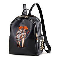 Маленькие рюкзаки для девушек небольшой городской черный