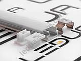 Накладний алюмінієвий профіль разом з розсіювачем 2 м для LED стрічки АЛ-02-1, фото 5