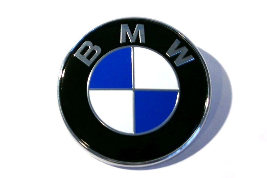 Эмблема Bmw 2 пукли 80мм пластик Оригинал