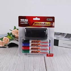 Набір кольорових маркерів для білих дошок 4 шт