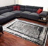 Модный современный ковер серо черно белый винтаж, фото 2