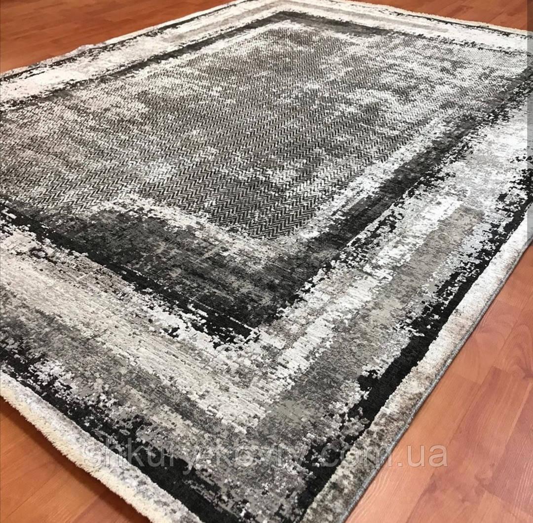 Модный современный ковер серо черно белый винтаж