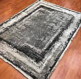 Модный современный ковер серо черно белый винтаж, фото 4
