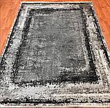 Модный современный ковер серо черно белый винтаж, фото 7