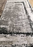 Модный современный ковер серо черно белый винтаж, фото 8