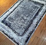 Модный современный ковер серо черно белый винтаж, фото 9