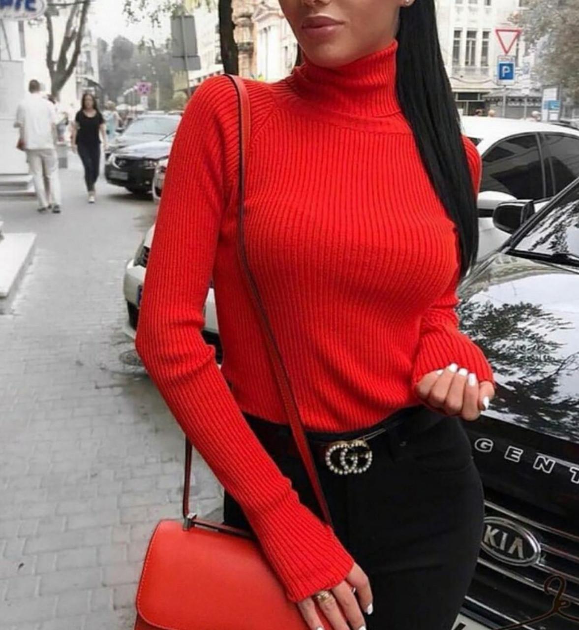 Гольф женский Красный