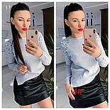 Женский свитер джемпер с жемчугом (бусинами) (в расцветках), фото 3
