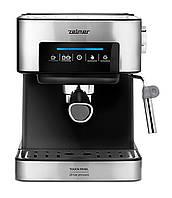 Кофеварка рожковая Zelmer ZCM7255 850 Вт Черный/ Серебристый