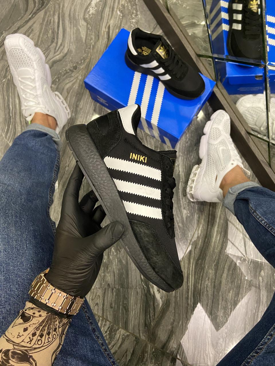 Adidas Iniki Black White (Чорний)