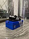 Adidas Iniki Black White (Чорний), фото 6