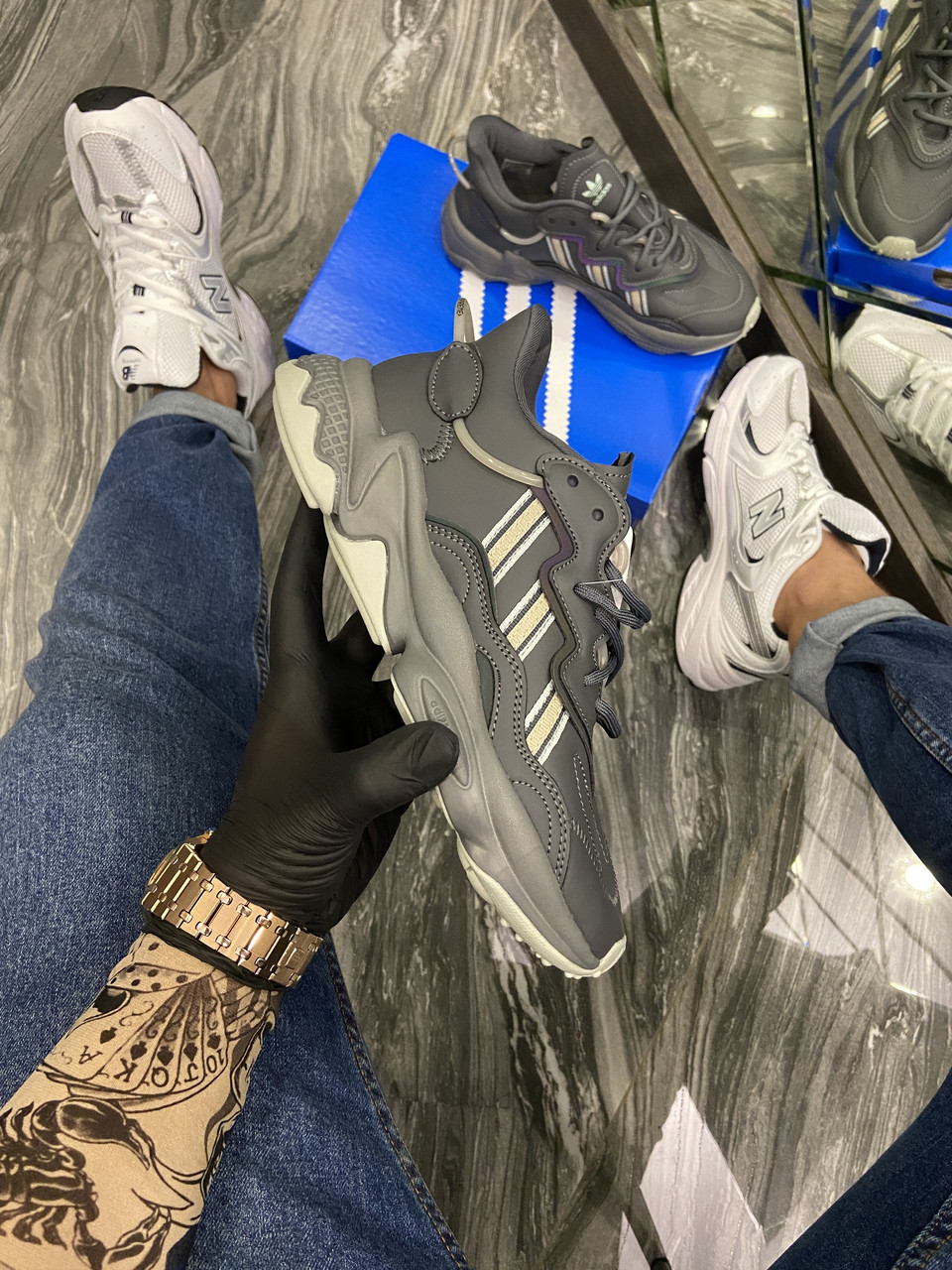 Adidas Ozweego Grey (Серый)