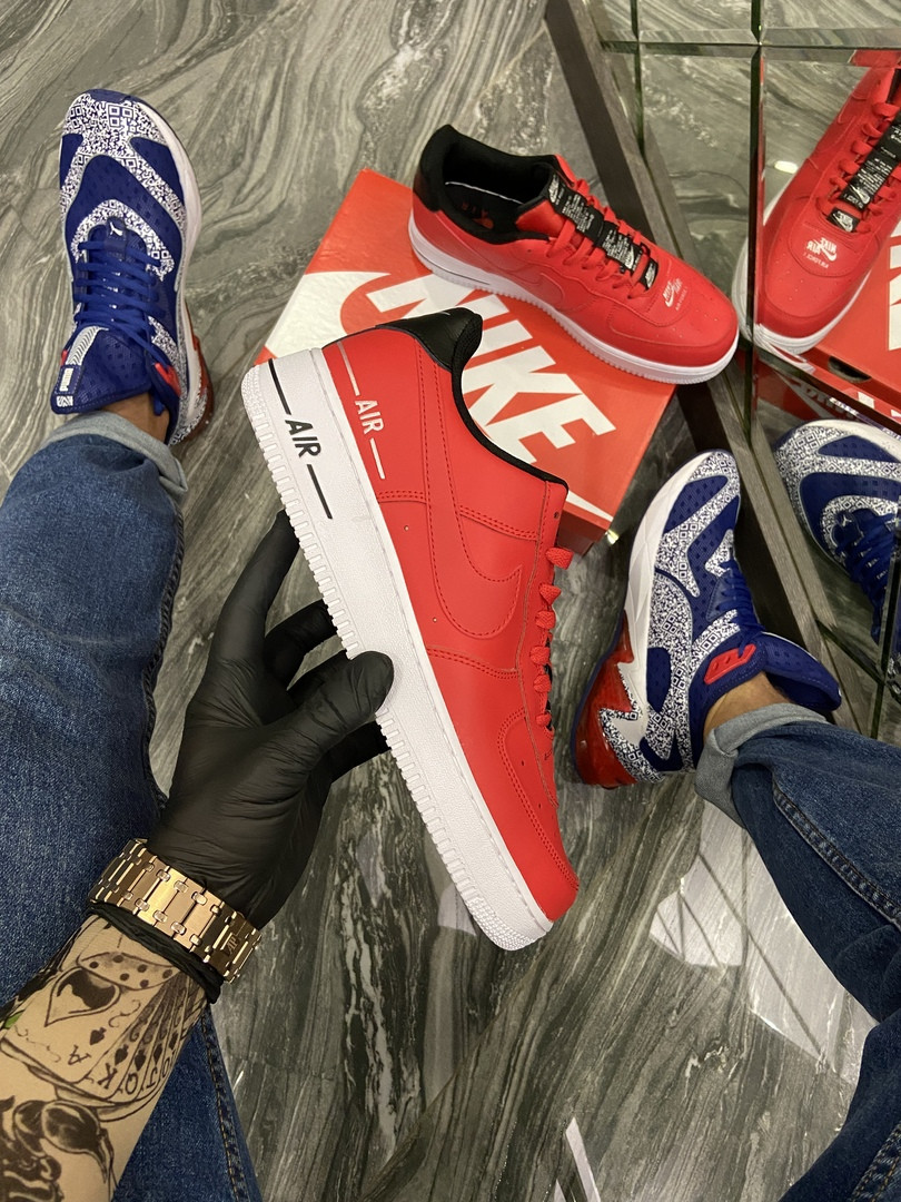 Nike Air Force 1 Low Red White (Красный)