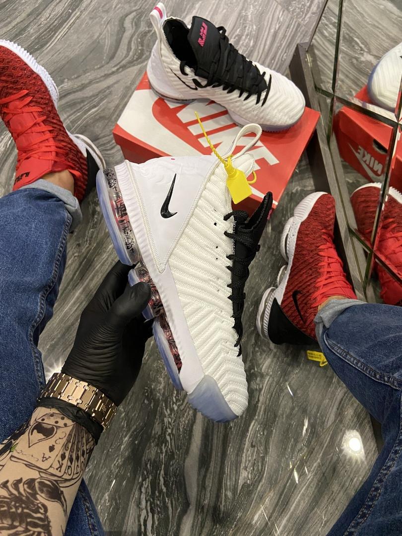 Nike LeBrone 15 White Black (Белый)
