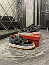 Nike Air Force Luxury Suede Grey Black (Серый) , фото 5