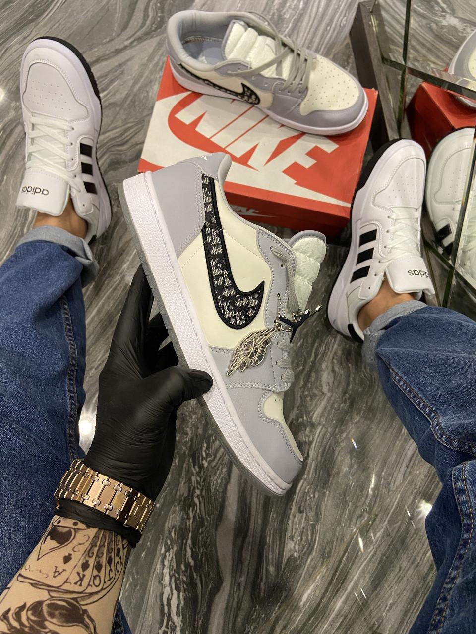 Nike Air Jordan 1 Retro x Dior (Серый)
