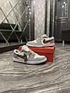 Nike Air Jordan 1 Retro x Dior (Серый), фото 5