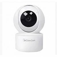 Беспроводная поворотная IP камера видеонаблюдения WiFi microSD Care Cam 23ST Белая, фото 1