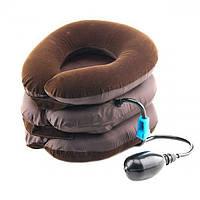 Надувная подушка для шеи Ting Pai Коричневая, фото 1