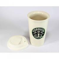 Керамический стакан, чашка Starbucks HY101 Белый, фото 1