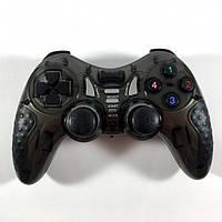 Беспроводной Джойстик 6 в 1 для ПК/PS2/PS3/PC360/ANDROID TV/WIN10 вибро чёрный, фото 1