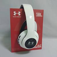 Бездротові Bluetooth-навушники Wireless Headphones JBL Harman UA67 з FM MP3 microSD/TF Білі, фото 1