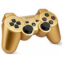 Беспроводной Джойстик Sony Геймпад PS3 для Sony PlayStation PS золотой, фото 1
