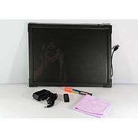 Флуоресцентна дошка FLUORECENT BOARD 50*70 c фломастером і серветкою, фото 1