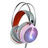 Ігрові дротові навушники MISDE G6 зі світлодіодним підсвічуванням Білі з помаранчевим
