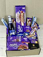 Подарунковий бокс/ подарунок для дівчини / шоколад Milka