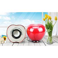 Колонки Яблуко для ноутбука та пк телефону Червоні, фото 1