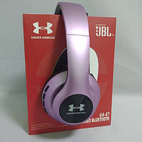 Бездротові Bluetooth-навушники Wireless Headphones JBL Harman UA67 з FM MP3 microSD/TF Фіолетові, фото 1