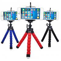 Гнучкий міні штатив тринога трипод для телефону і камери 25 см (восьминіг, павук), фото 1
