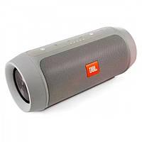 Портативна bluetooth колонка спікер JBL Charge 2 FM, MP3, радіо Сірий, фото 1