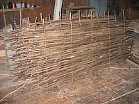 Плетенный декоративный забор