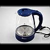 Електро чайник Domotec MS-8211 2200W 2L скло з підсвічуванням
