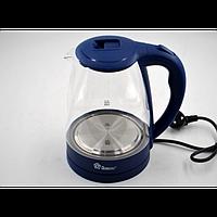 Електро чайник Domotec MS-8211 2200W 2L скло з підсвічуванням, фото 1
