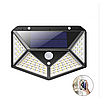 Уличный настенный светильник Lesko SH-100 на солнечной батарее с датчиком движения 100 LED диодов